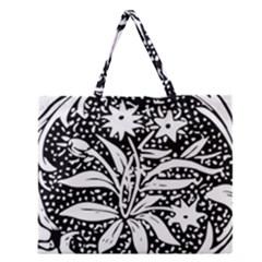 Decoration Pattern Design Flower Zipper Large Tote Bag