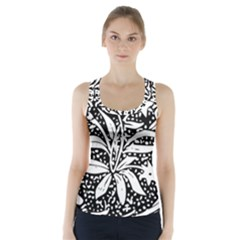 Decoration Pattern Design Flower Racer Back Sports Top