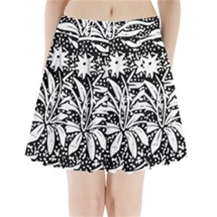 Decoration Pattern Design Flower Pleated Mini Skirt