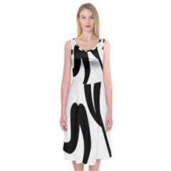 Bandy Pictogram Midi Sleeveless Dress
