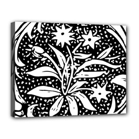 Decoration Pattern Design Flower Canvas 14  x 11
