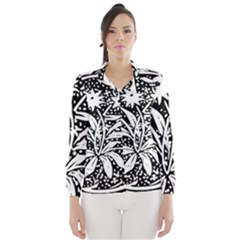 Decoration Pattern Design Flower Wind Breaker (women)