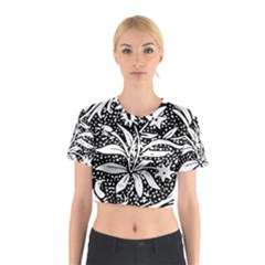 Decoration Pattern Design Flower Cotton Crop Top