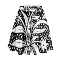 Decoration Pattern Design Flower High Waist Skirt