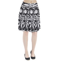 Decoration Pattern Design Flower Pleated Skirt