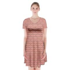 Brick Lake Dusia Wall Short Sleeve V-neck Flare Dress