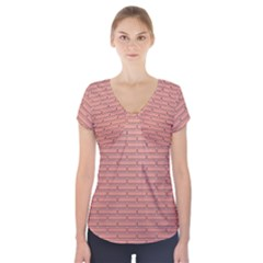 Brick Lake Dusia Wall Short Sleeve Front Detail Top