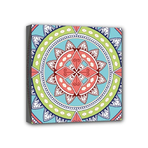 Drawing Mandala Art Mini Canvas 4  X 4