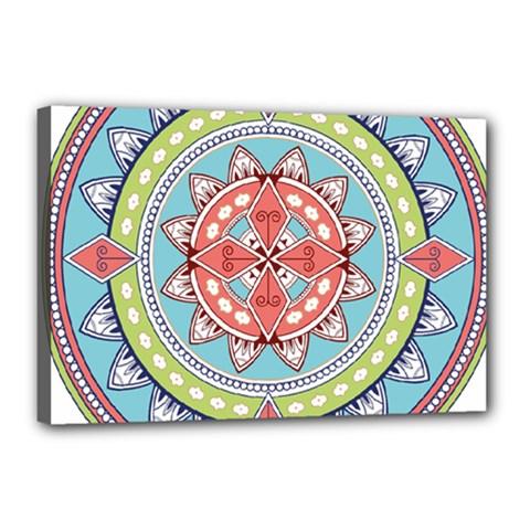 Drawing Mandala Art Canvas 18  x 12