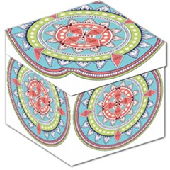 Drawing Mandala Art Storage Stool 12