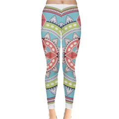 Drawing Mandala Art Leggings