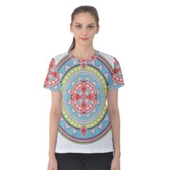 Drawing Mandala Art Women s Cotton Tee