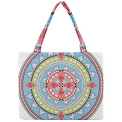 Drawing Mandala Art Mini Tote Bag