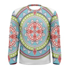 Drawing Mandala Art Men s Long Sleeve Tee