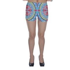 Drawing Mandala Art Skinny Shorts
