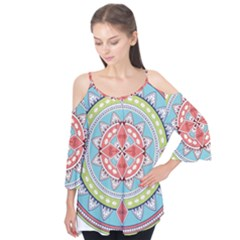 Drawing Mandala Art Flutter Tees