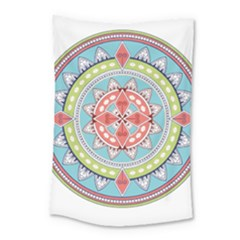 Drawing Mandala Art Small Tapestry