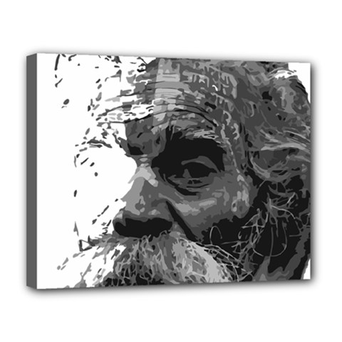 Grandfather Old Man Brush Design Canvas 14  X 11