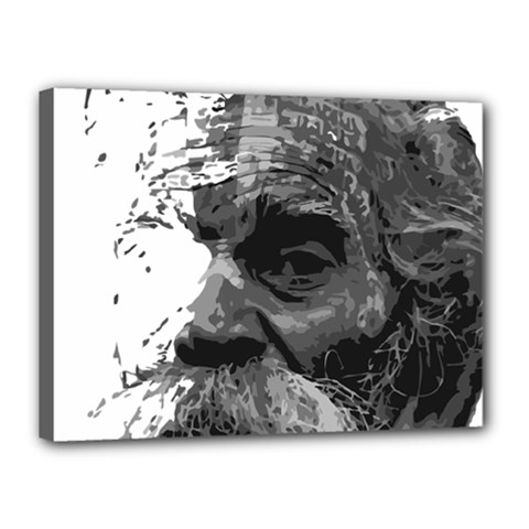 Grandfather Old Man Brush Design Canvas 16  X 12