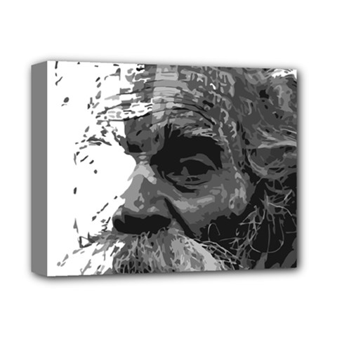 Grandfather Old Man Brush Design Deluxe Canvas 14  X 11