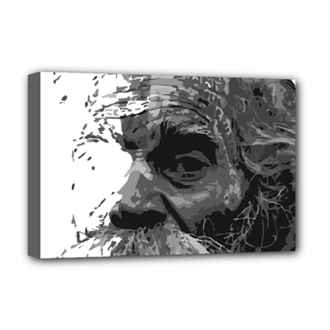 Grandfather Old Man Brush Design Deluxe Canvas 18  X 12