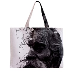 Grandfather Old Man Brush Design Zipper Mini Tote Bag
