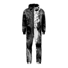 Grandfather Old Man Brush Design Hooded Jumpsuit (kids)