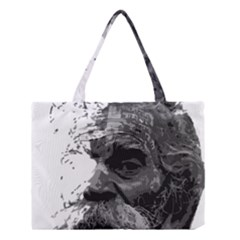 Grandfather Old Man Brush Design Medium Tote Bag