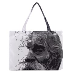 Grandfather Old Man Brush Design Medium Zipper Tote Bag
