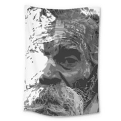 Grandfather Old Man Brush Design Large Tapestry