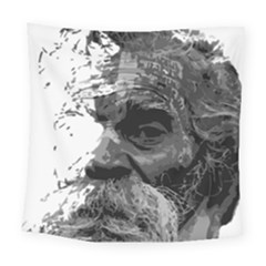 Grandfather Old Man Brush Design Square Tapestry (large)