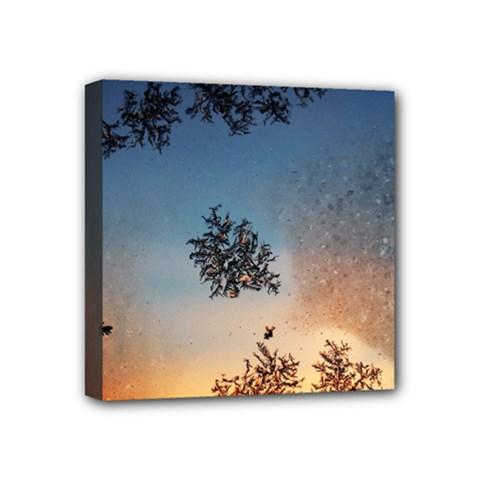 Hardest Frost Winter Cold Frozen Mini Canvas 4  X 4