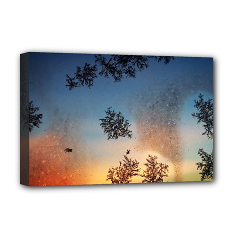 Hardest Frost Winter Cold Frozen Deluxe Canvas 18  X 12
