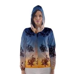 Hardest Frost Winter Cold Frozen Hooded Wind Breaker (women)