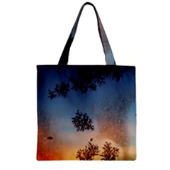 Hardest Frost Winter Cold Frozen Zipper Grocery Tote Bag