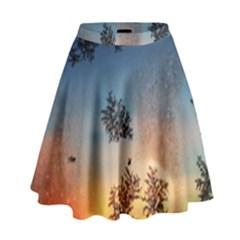 Hardest Frost Winter Cold Frozen High Waist Skirt