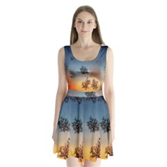 Hardest Frost Winter Cold Frozen Split Back Mini Dress