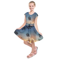 Hardest Frost Winter Cold Frozen Kids  Short Sleeve Dress