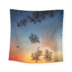 Hardest Frost Winter Cold Frozen Square Tapestry (small)