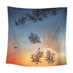 Hardest Frost Winter Cold Frozen Square Tapestry (large)