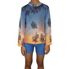 Hardest Frost Winter Cold Frozen Kids  Long Sleeve Swimwear