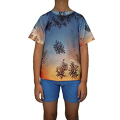Hardest Frost Winter Cold Frozen Kids  Short Sleeve Swimwear