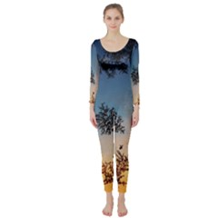 Hardest Frost Winter Cold Frozen Long Sleeve Catsuit