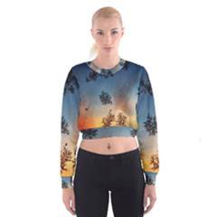 Hardest Frost Winter Cold Frozen Women s Cropped Sweatshirt
