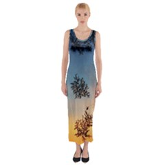 Hardest Frost Winter Cold Frozen Fitted Maxi Dress