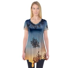 Hardest Frost Winter Cold Frozen Short Sleeve Tunic