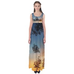 Hardest Frost Winter Cold Frozen Empire Waist Maxi Dress