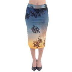 Hardest Frost Winter Cold Frozen Midi Pencil Skirt