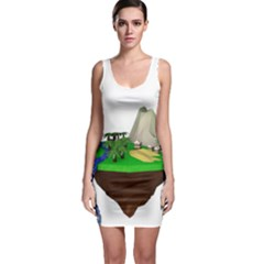 Low Poly 3d Render Polygon Sleeveless Bodycon Dress