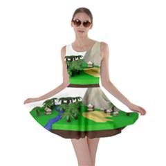 Low Poly 3d Render Polygon Skater Dress